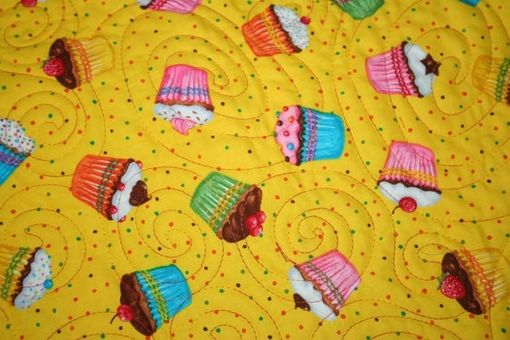 Custom Made Bright Multi-Colored Tye-Dye And Leopord Print Girl's Quilt With Cup Cake Backing