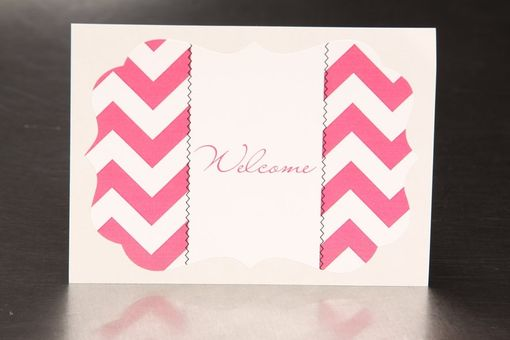 Custom Made Personalized Wedding Stickers - Zig Zag Chevron - Guest Bag Labels
