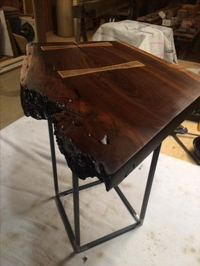Custom Made Black Walnut Live Edge End Table / Night Stand