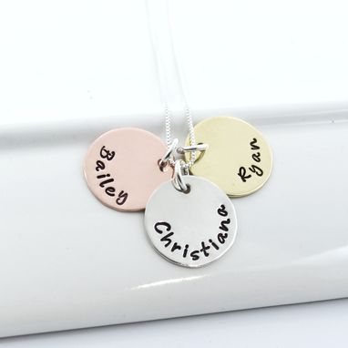 Custom Made Personalized Mother Necklace | Mixed Metals