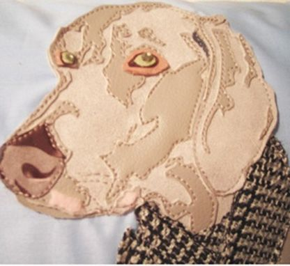Custom Made Custom Klaus The Weimeraner Pet Portrait Pillow