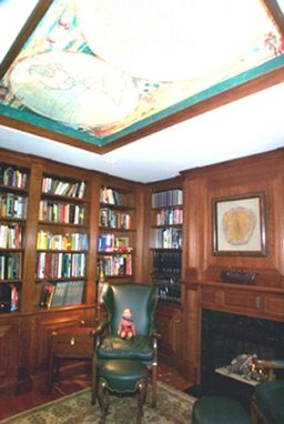 Custom Made Built-In Cherry Library