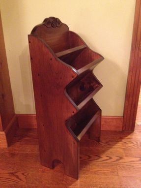 Custom Made Magazine Rack, Mail Organizer