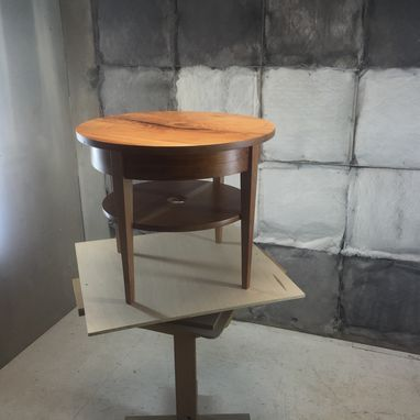 Custom Made Round End Table In Biedermeier Style