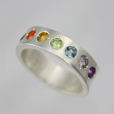 Custom Made Rainbow Ring In Sterling Silver