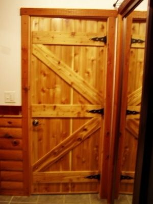 Hand Made Custom Interior Pine Cabin Doors By Drew S Up