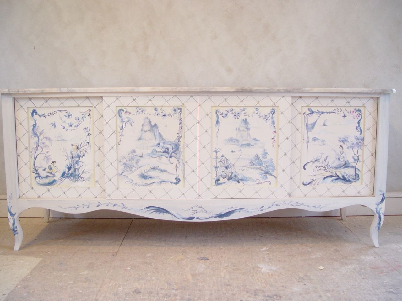 Hand Crafted Custom Furniture Painting Chinoiserie Hand