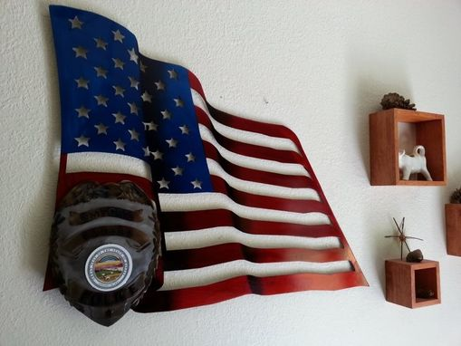 Custom Made United States Flag Wall Art