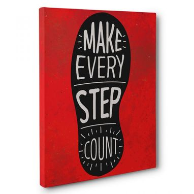 Custom Made Make Every Step Count Home Canvas Wall Art
