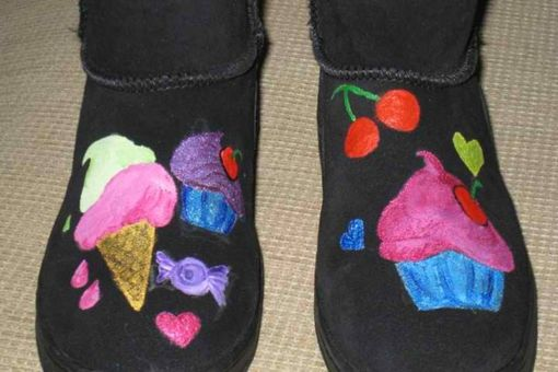 Custom Made Hand Painted Boots