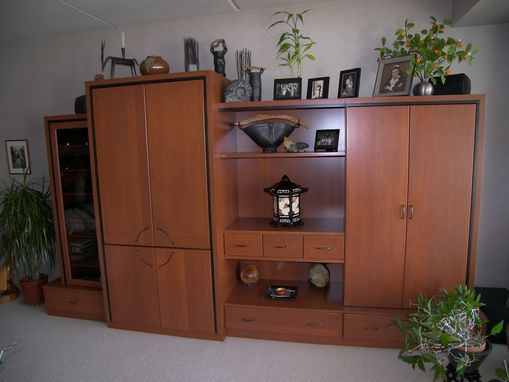 Custom Made Contemporary cherry entertainment unit