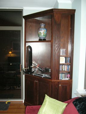 Custom Made Corner Entertainment Center