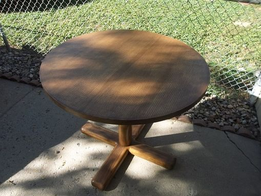 "Custom Made Solid Oak 36"" Round Dining Table"