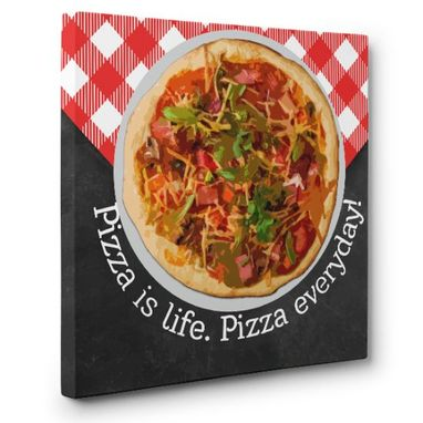 Custom Made Pizza Lovers Canvas Wall Art