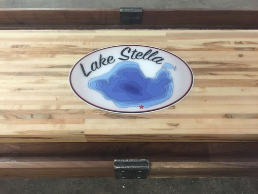 Custom Made Signature Industrial Farmhouse Shuffleboard