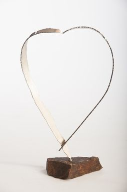 Custom Made Large Heart - Contemporary Stainless Steel Sculpture