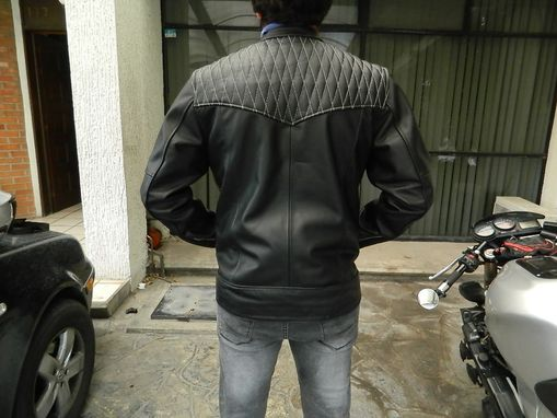 Custom Made Cafe Racer Style Men's Leather Motorcycle Jackets Made To Order To Your Size