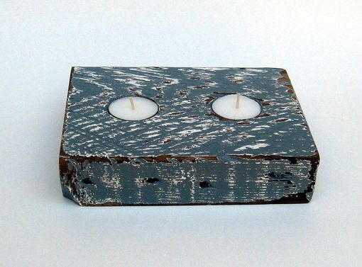 Custom Made Reclaimed Wood Tea Light Holder