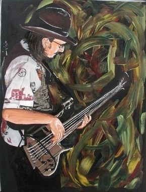 Custom Made Les Claypool Oil Painting