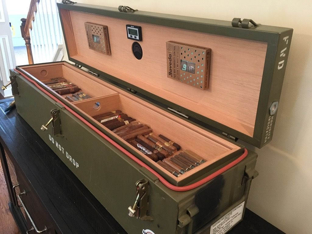 Hand Made Custom Cigar Humidors From Military Surplus