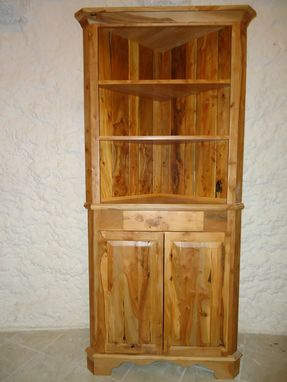 Custom Made Apple Wood Corner Cabinet By Galusha Tiles And Cabinetry Custommade Com