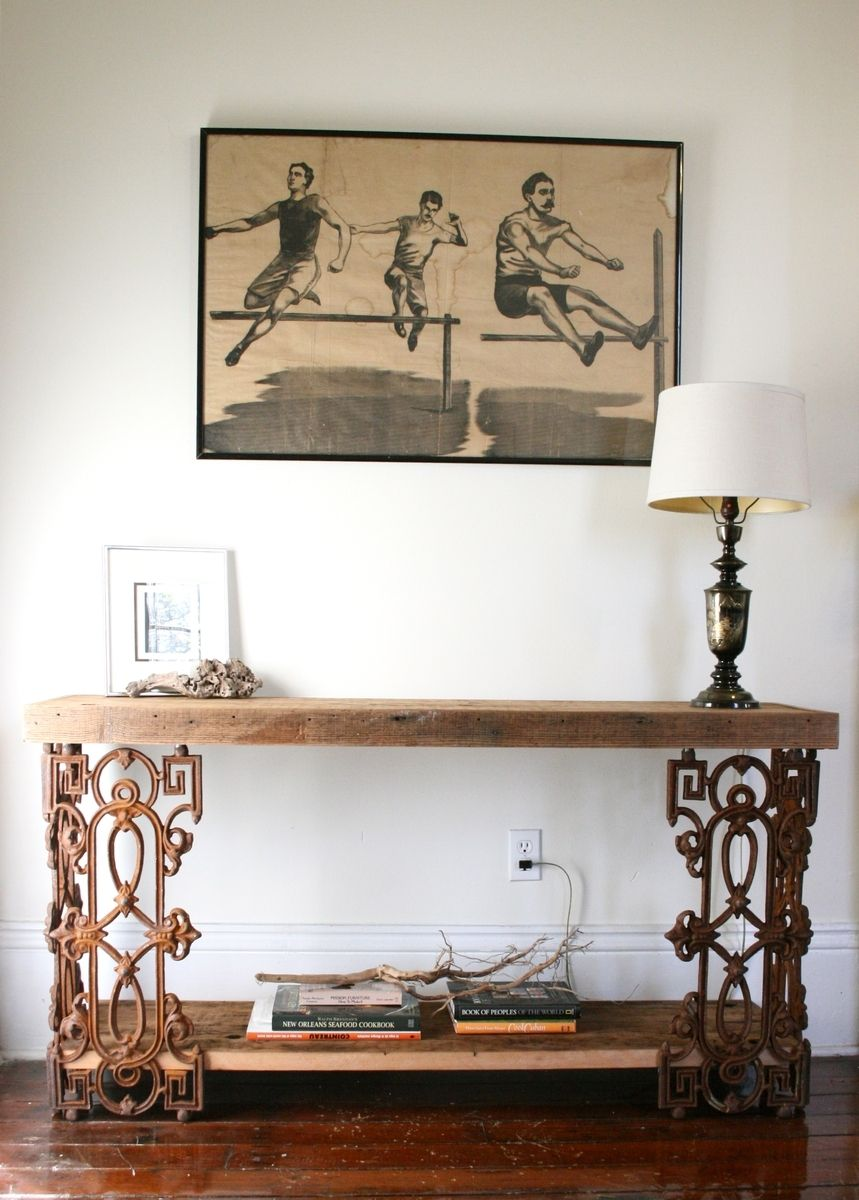 Custom Made The Piety Table Console Or Writing Desk From Reclaimed Wood And