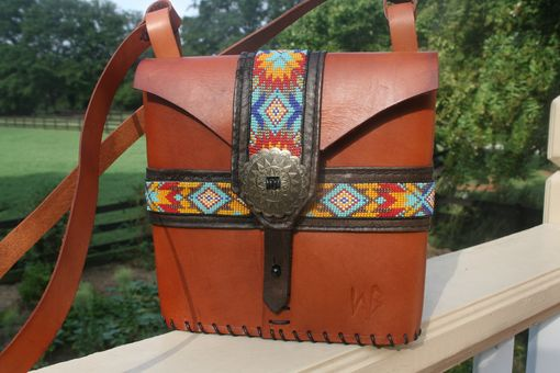 Custom Made Aztec Beaded Bag