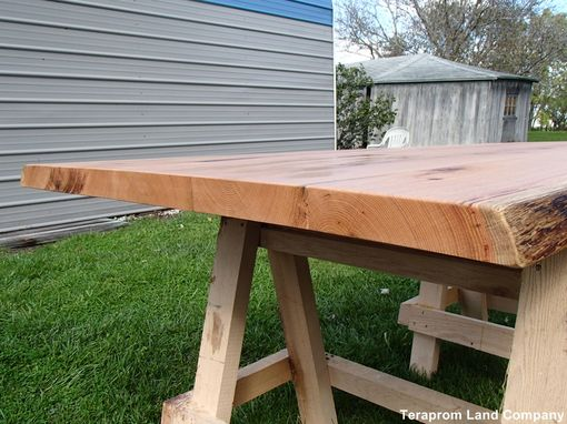 Custom Made Live Edge Oak Dining Table Top