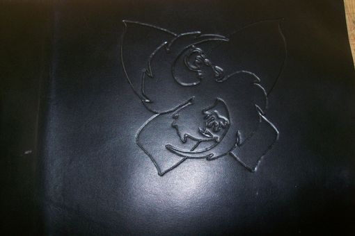 Custom Made Leather Portfolio With Custom Logo