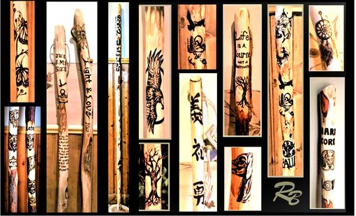 Custom Made Retirement Gift - Hiking Stick - Walking Stick - Wood Anniversary Gift