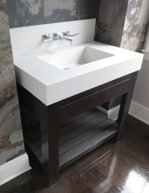 Custom Made Concrete Sink And Base