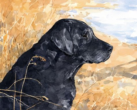 Hand Crafted Lab Dog Custom Portrait, Watercolor, Labrador ...