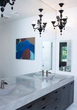 Hand Crafted Integral Concrete Vanity Sink By Tao Concrete