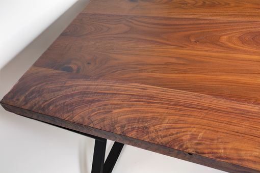 Custom Made L Desk - Walnut Desk- Midcentury Modern- Metal Base