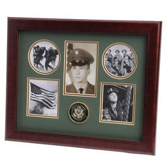 Custom Made U.S. Army Medallion 5 Picture Collage Frame
