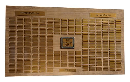 Custom Made Large Custom Perpetual Donor / In Memory Of Plaque