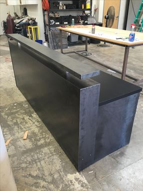 Custom Made #44 Black Steel Memphis Reception Desk