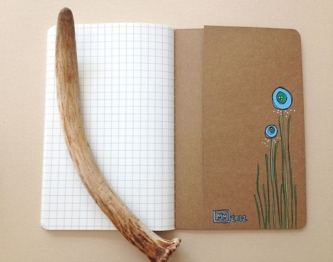 Custom Made Abstract Flower Hand Illustrated Notebook