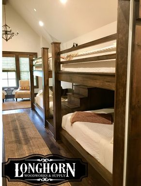 Custom Made Quad Queen Over Queen Bunk Beds