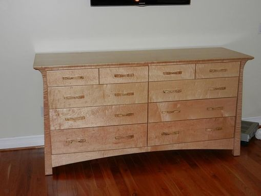 Custom Made Stolt: Curly Maple Dresser