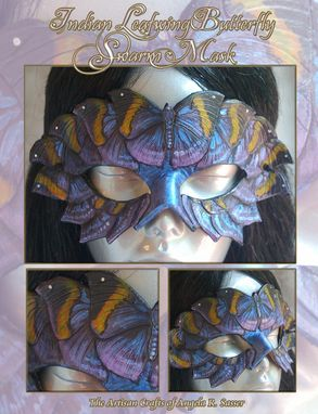 Custom Made Indian Leafwing Butterfly Swarm Mask