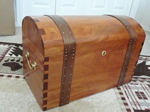 Custom Made Mahogany Keepsake Chest