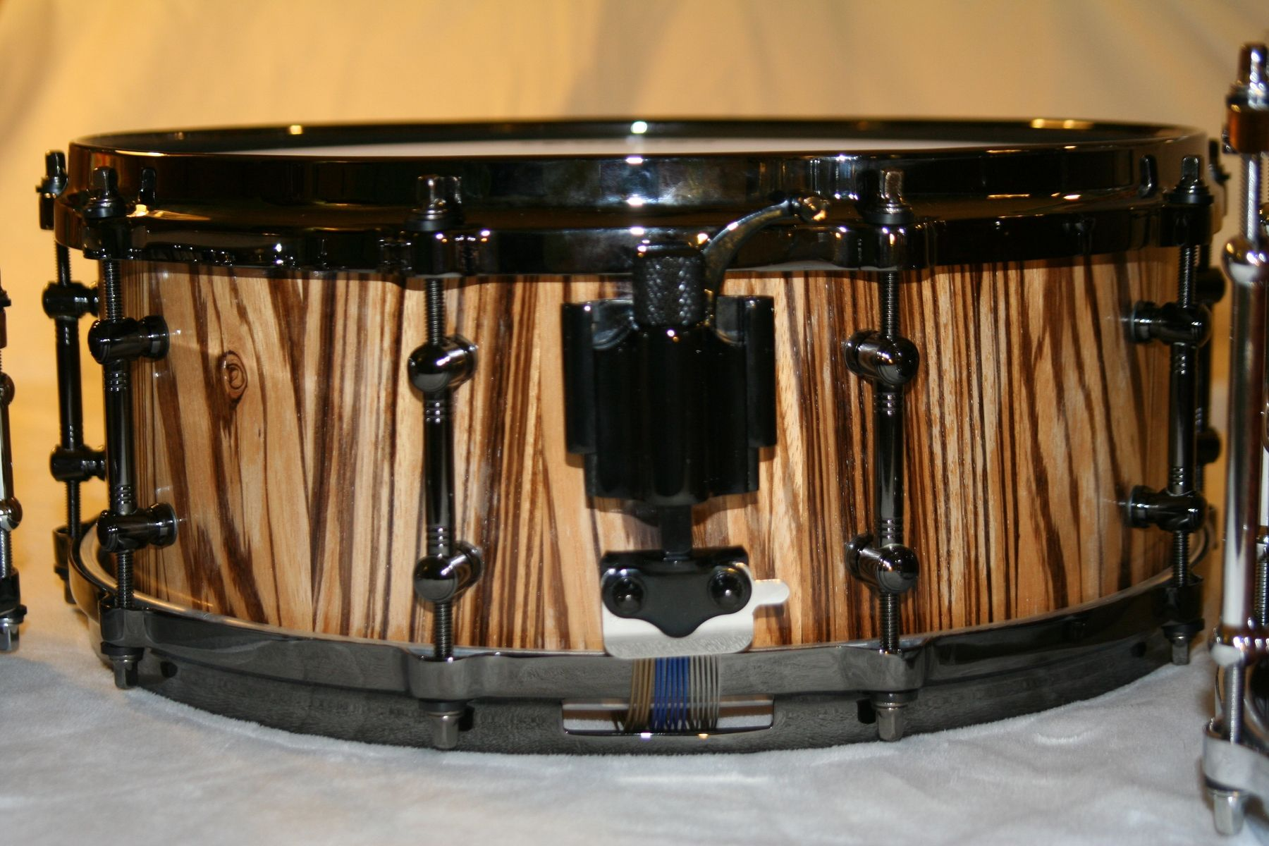 Custom Zebrawood Concert Snare Drum by Uberdrum Percussion