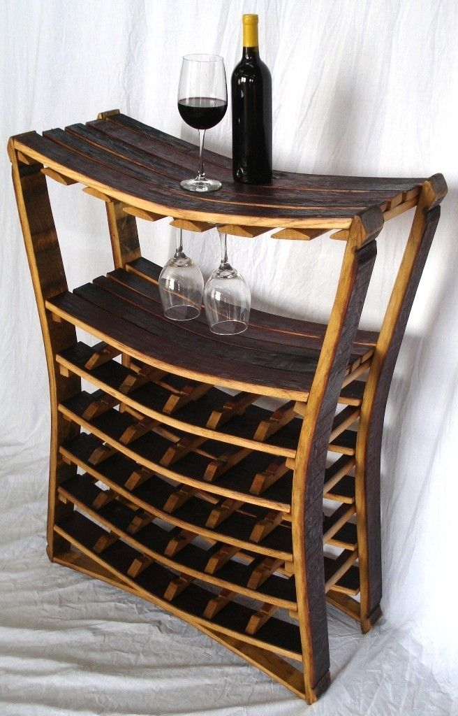 Buy A Hand Made Chianti Barrel Stave Wine And Glass Rack