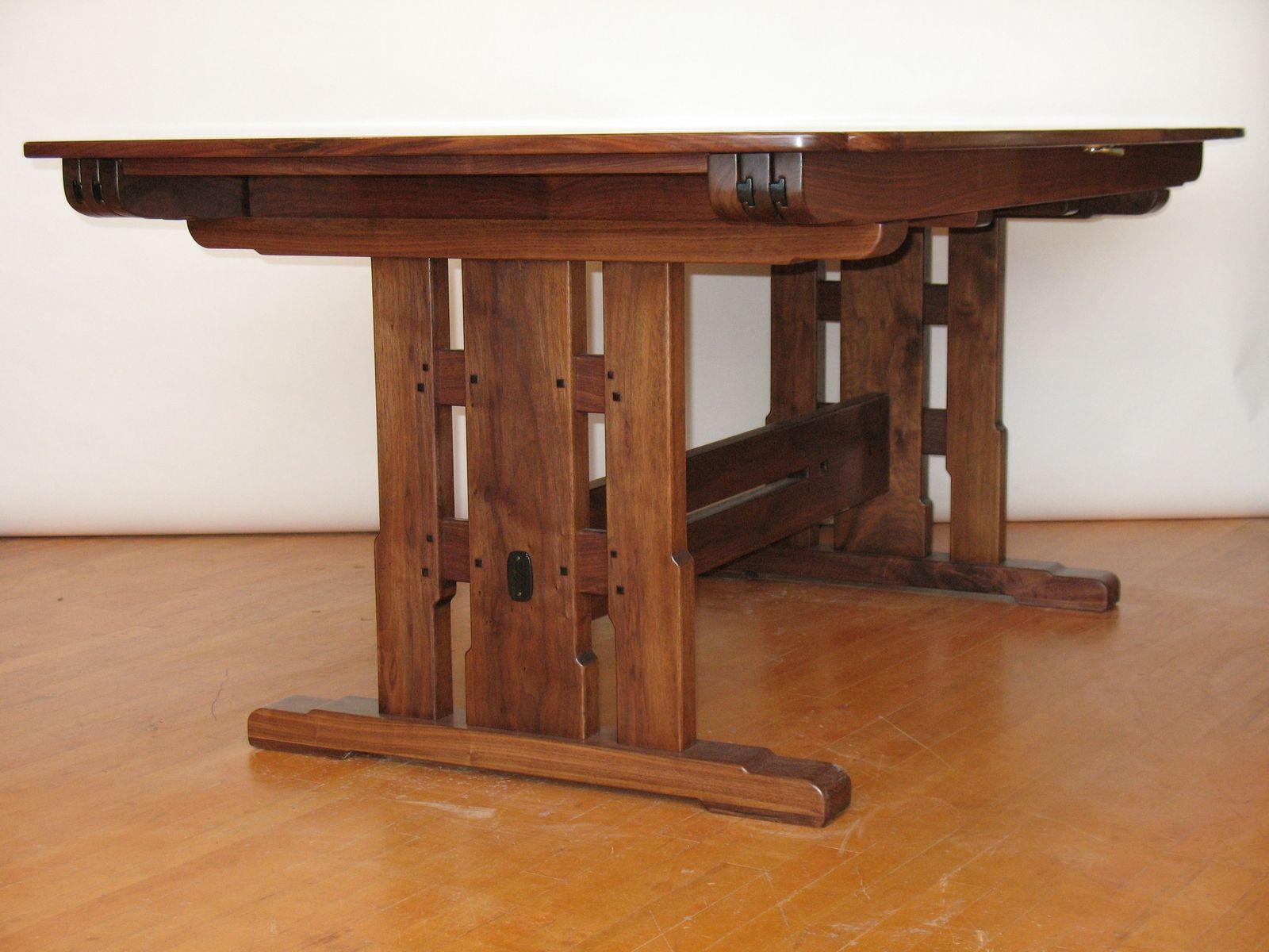 Handmade Trestle Table By Paula Garbarino Custom Furniture