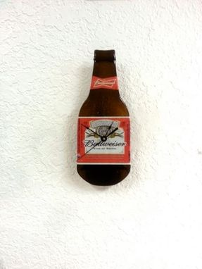 Custom Made Budweiser Beer Bottle Clock