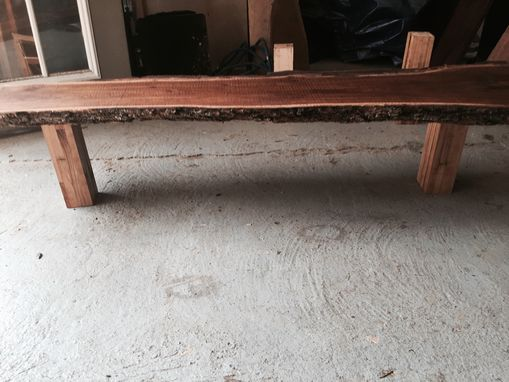 Custom Made Black Walnut Live Edge Bench
