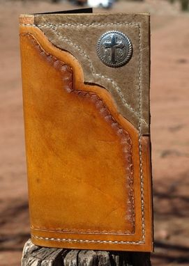 Custom Made Hand Tooled Leather Roper Wallet