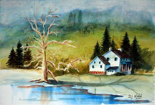 Custom Made Guarding The Homestead Watercolor Painting