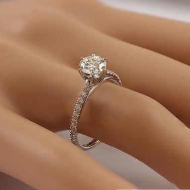 Custom Made Round Cut Classic 6 Prong Diamond Engagement Ring Ar13